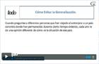 Videos creencias generalizacion sistema de creencias
